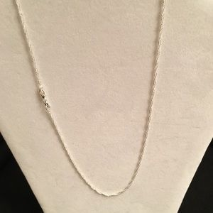 """Jewelry - 18"""" Sterling Silver Necklace Brand New"""